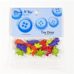 Dress It Up Embellishment Buttons Tiny Dinos