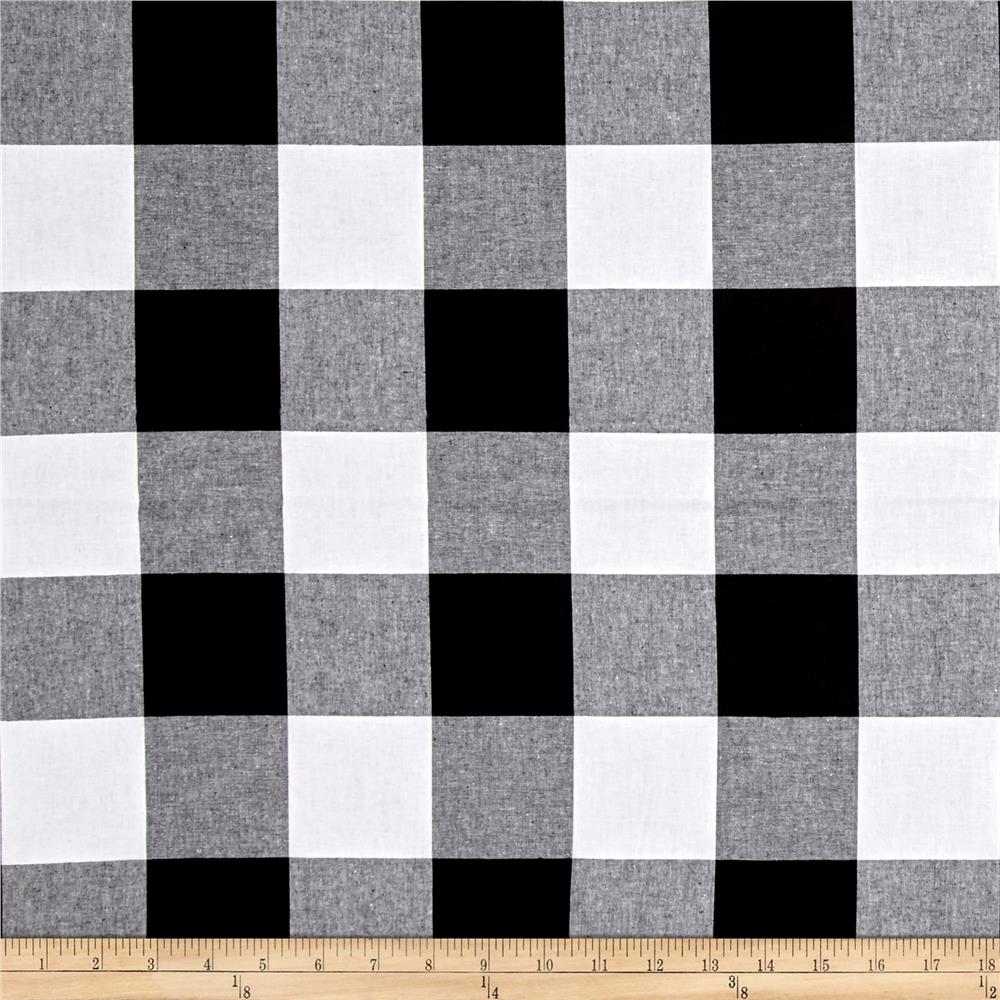 Cotton + Steel Checkers Yarn Dyed Woven 2 1/2'' Black Fabric By The Yard