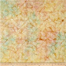 Island Batik Florida Oranges Leaf Vein Tan/Multi