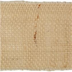 4'' Burlap Wired Ribbon Light Natural