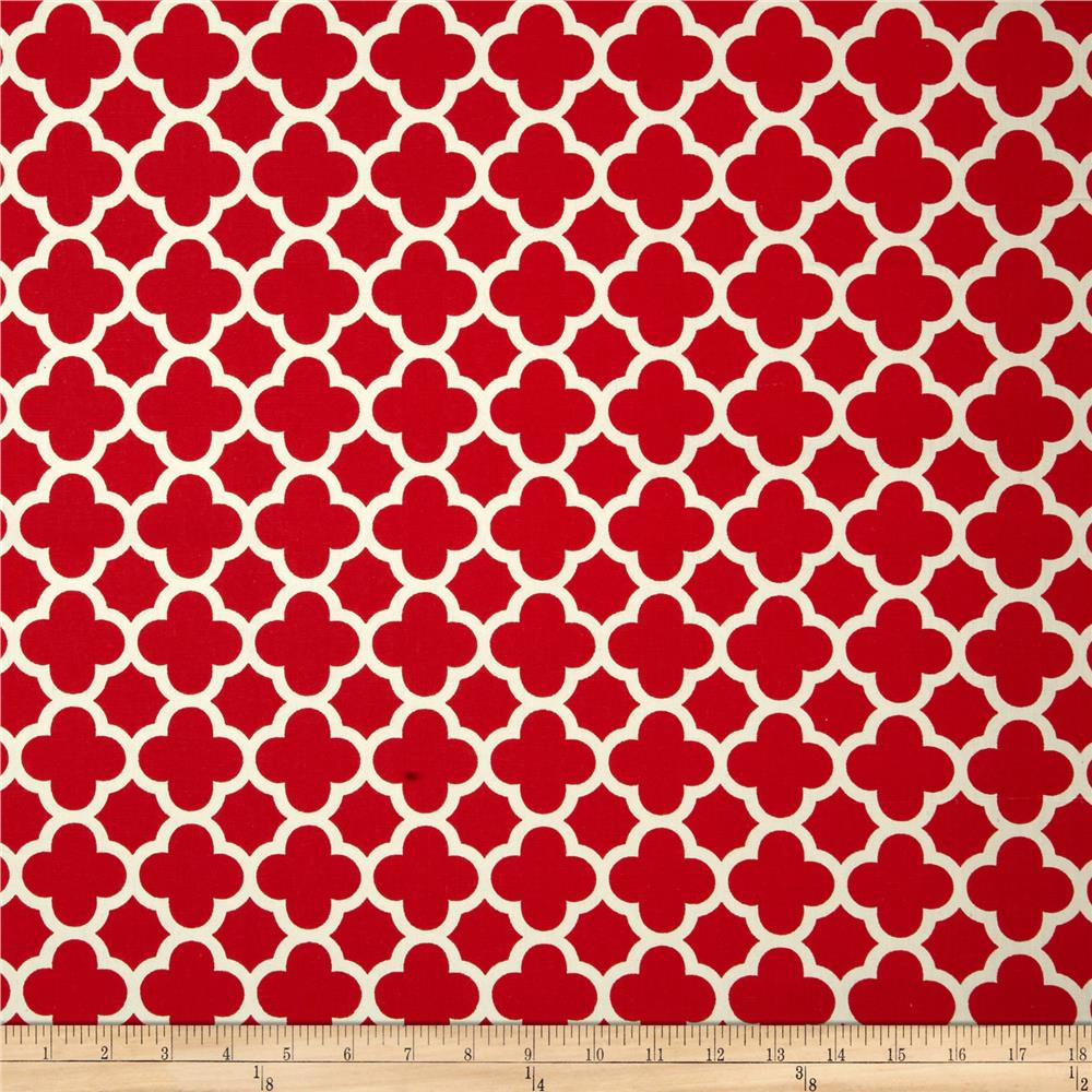 Riley Blake Home Decor Quatrefoil Red