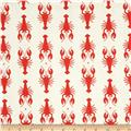 Riley Blake Home Decor Lobster Red