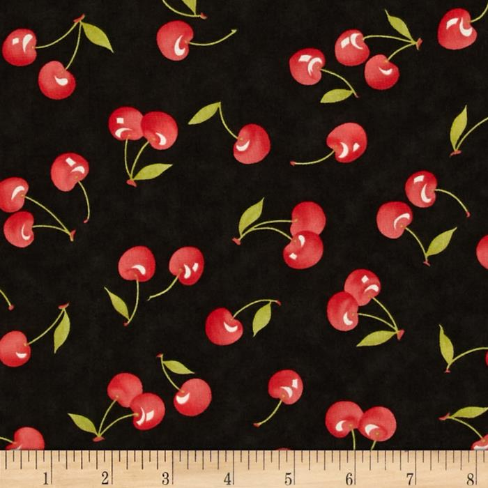 Moda Farmhouse Vintage Cherries Midnight