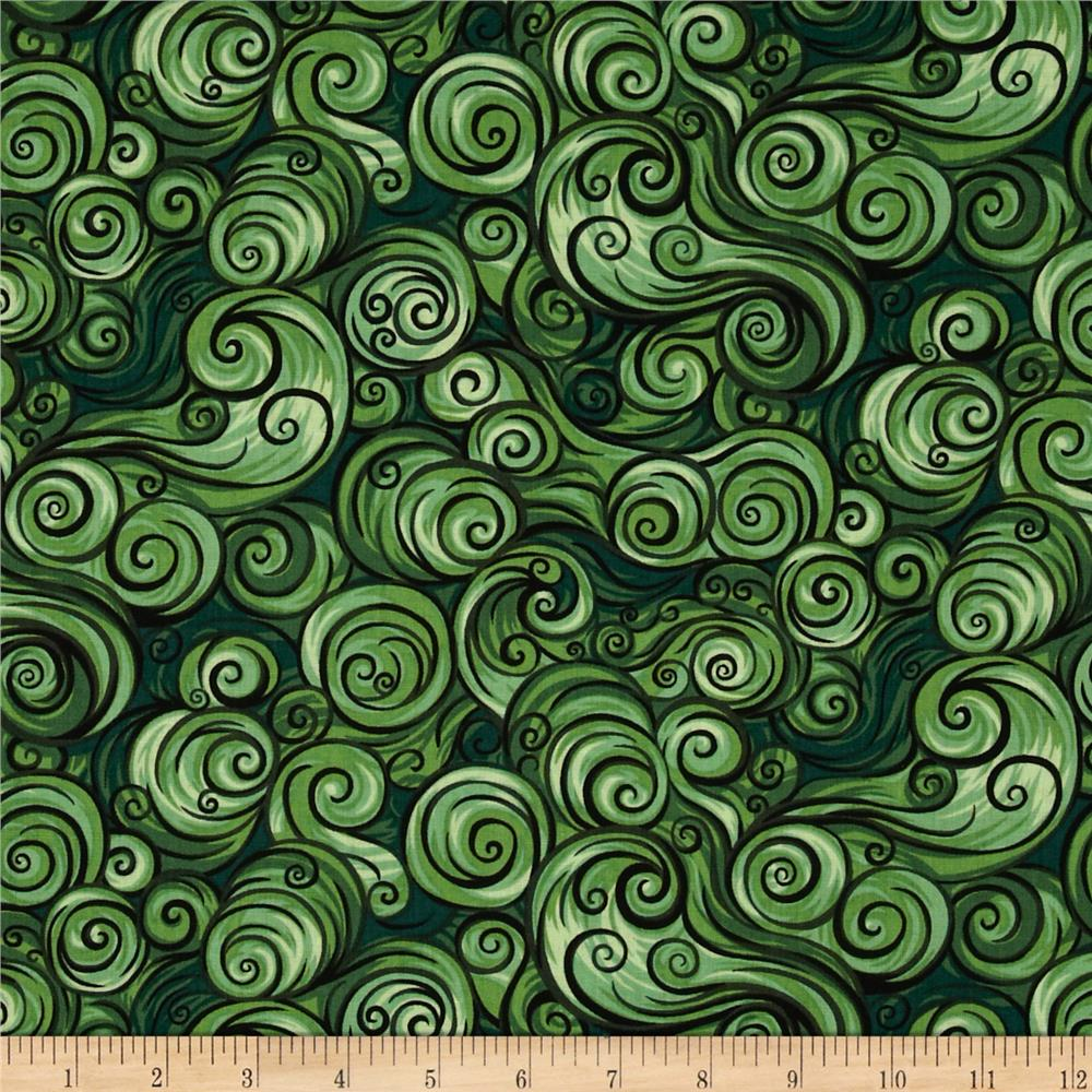 Nite Owls Swirls Green