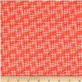 Michael Miller Hello Hashtag Texture Coral