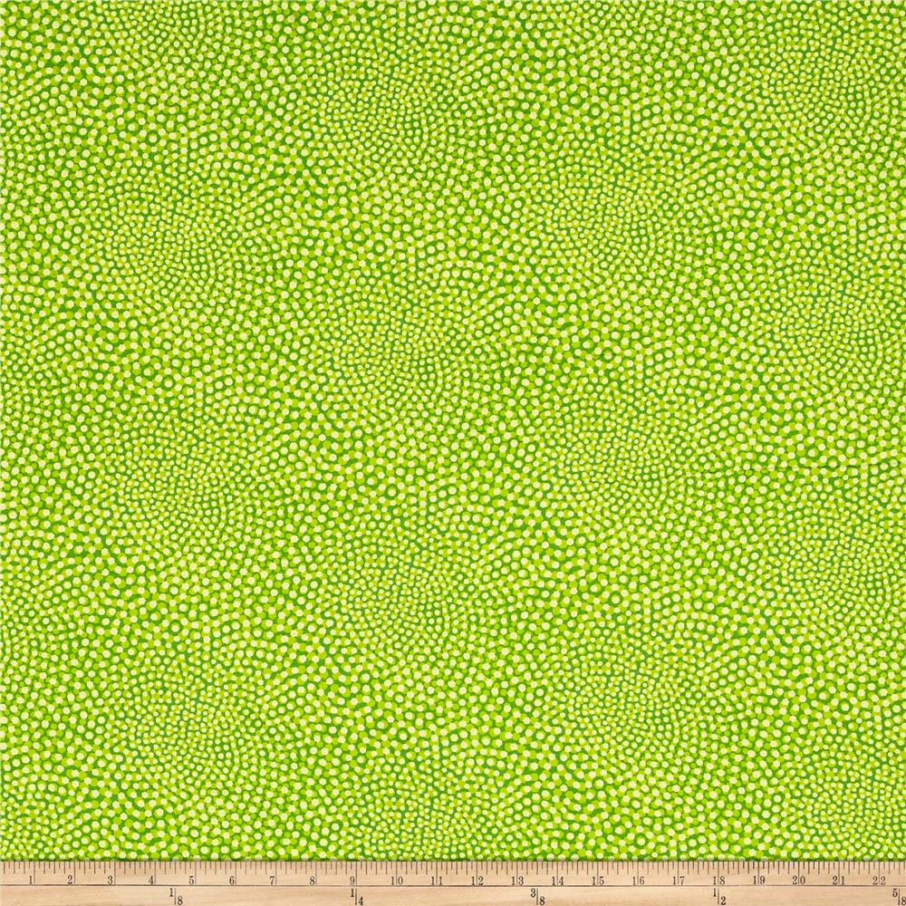 Breezy blooms whirl green yellow discount designer for Green fabric