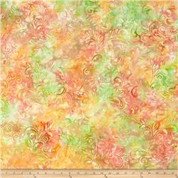 Batavian Batiks Florentine Green/Orange