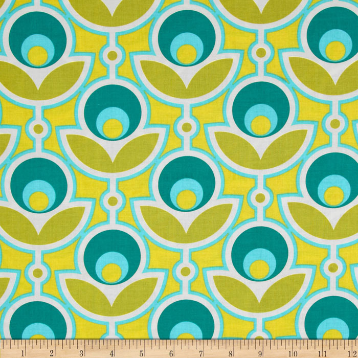Joel Dewberry Notting Hill Primrose Aquamarine Fabric