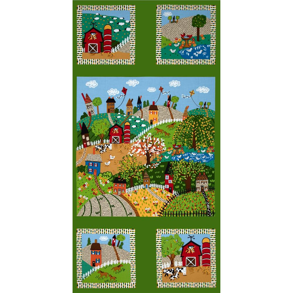 Good Seasons Spring Panel Green/Multi