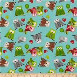 Owl Christmas Owls Blue