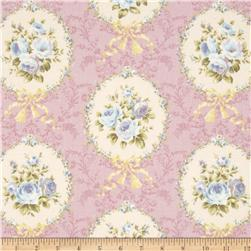 Lecien Rococo Sweet Flower Medallion Lavender