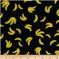 Socky Tossed Bananas Black