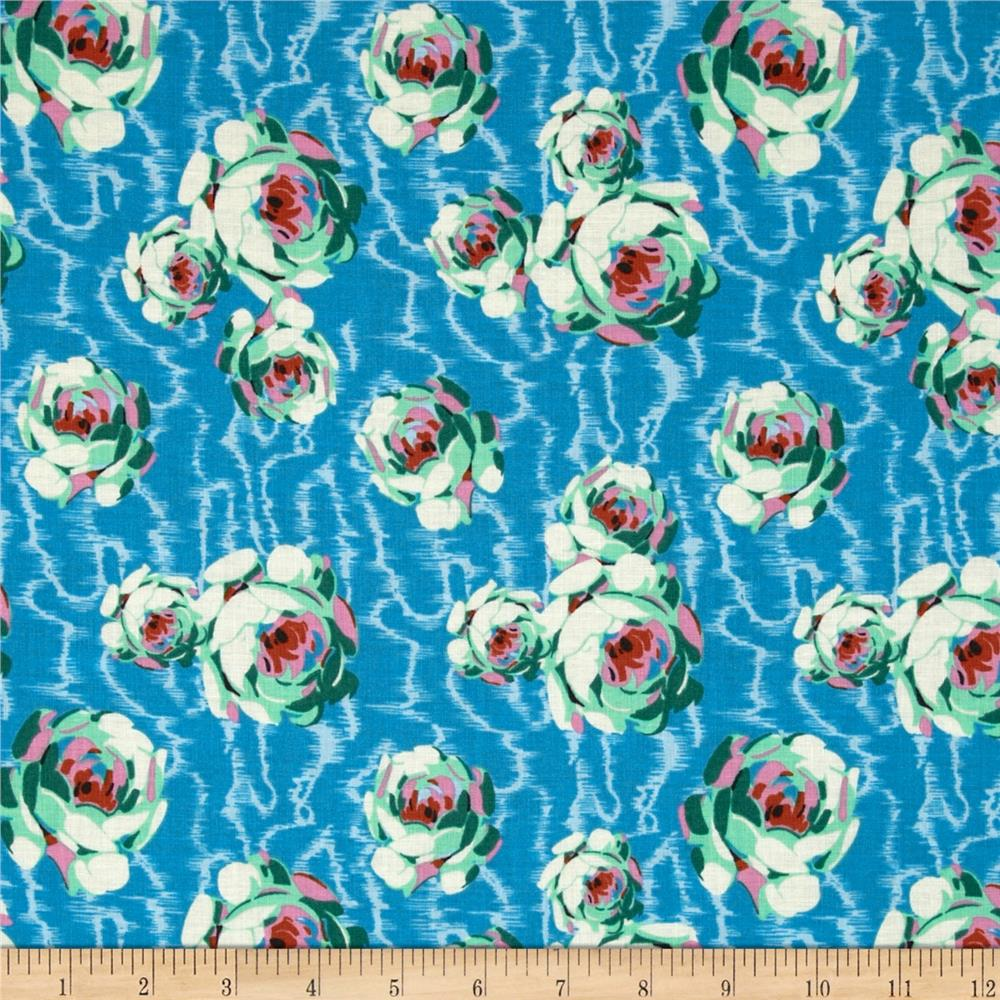 Amy Butler Hapi Flowing Buds Turquoise