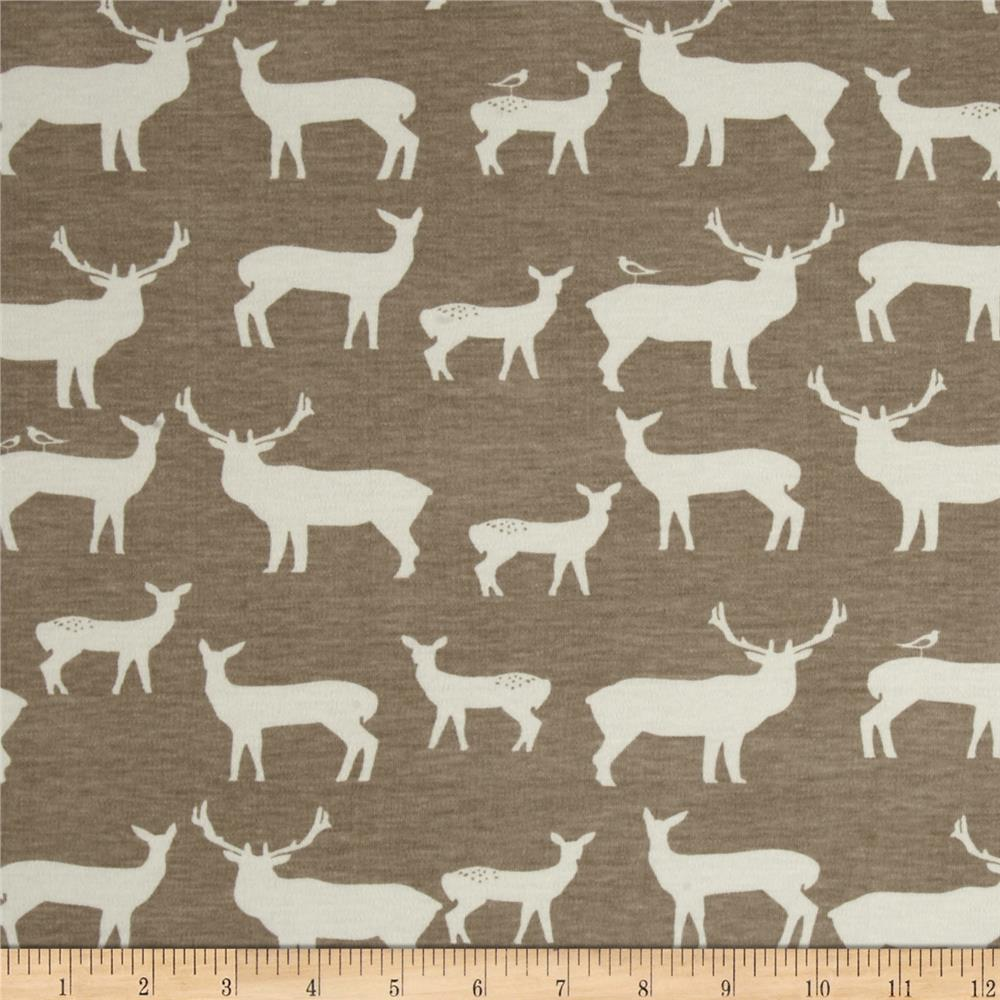 Birch Organic Interlock Knit Elk Grove Elk Family Shroom