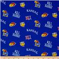 Collegiate Cotton Broadcloth University of Kansas Royal Blue