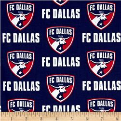 MLS Cotton Broadcloth Dallas FC Navy