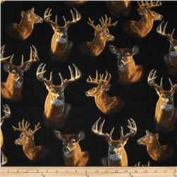 Winterfleece Deer Heads Multi Fabric