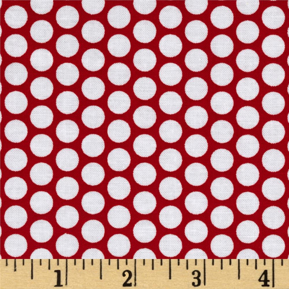 Riley Blake Honeycomb Dot Red/White