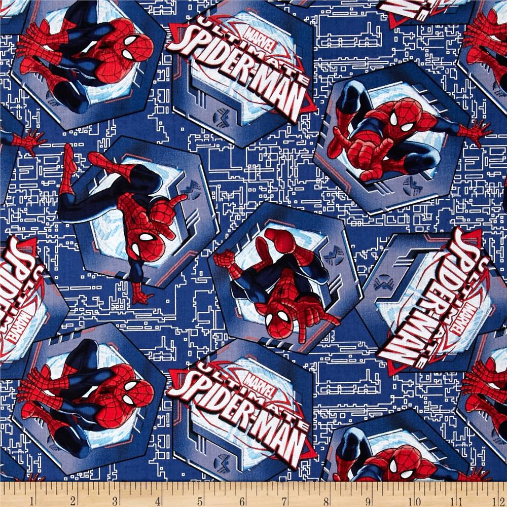 Marvel Comics Spider-Man Badge Toss Blue
