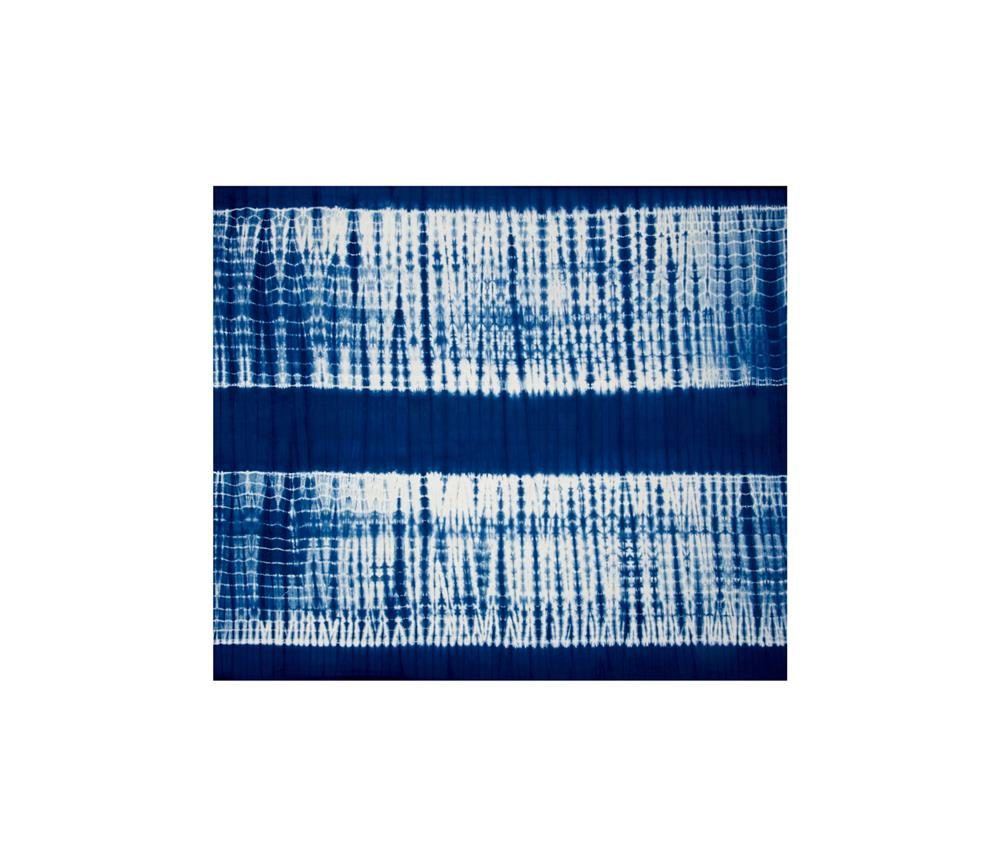 Indian Batik Wind Cave Tie-Dye Navy/White