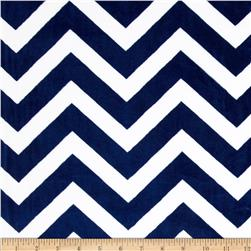 Minky Chevron Cuddle Midnight Blue/Snow