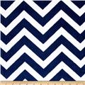 Shannon Minky Cuddle Chevron Midnight Blue/Snow