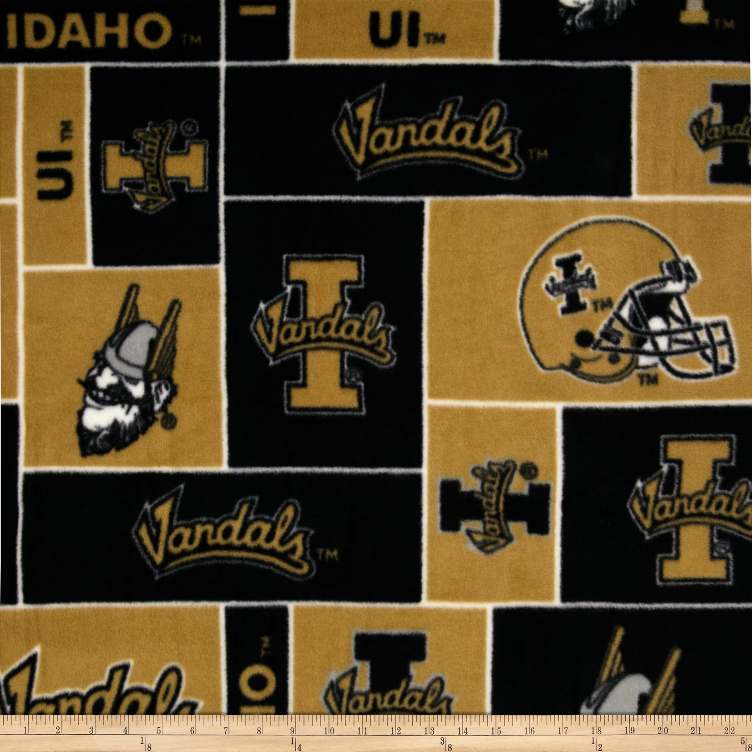 Collegiate Fleece University of Idaho Fabric