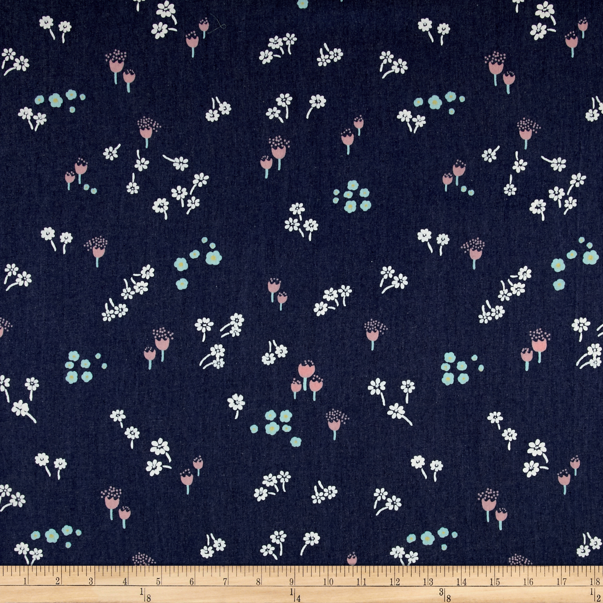 Art Gallery Denim Print Ditsy Abrasion Fabric by Art Gallery in USA