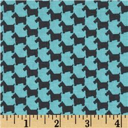 Michael Miller Scottie Houndstooth Aqua