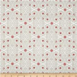 Primrose Sands Floral Swirl Grey Fabric