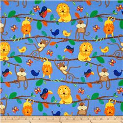 Michael Miller Retro Animals Blue