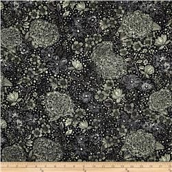 Liberty of London Silk Twill Becky Jane Black