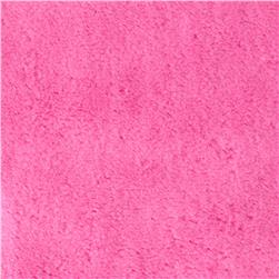 Minky Soft Cuddle Hot Pink Fabric