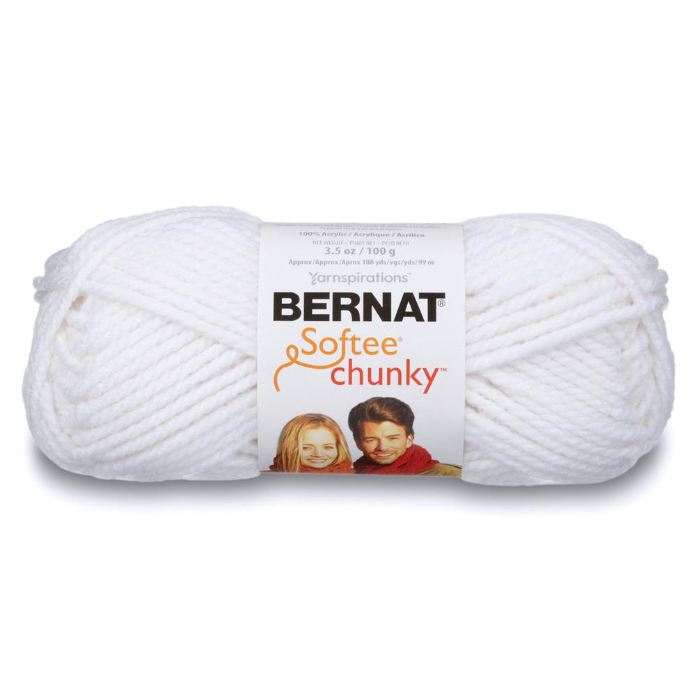 Bernat Softee Chunky Yarn (28005) White