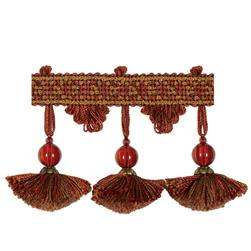"Jaclyn Smith 2.75"" 02111 Tassel Fringe Brick"