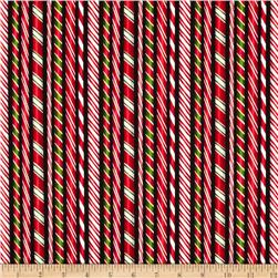 Kaufman Holly Jolly Christmas Candy Canes Black