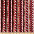 Robert Kaufman Holly Jolly Christmas Candy Canes Black
