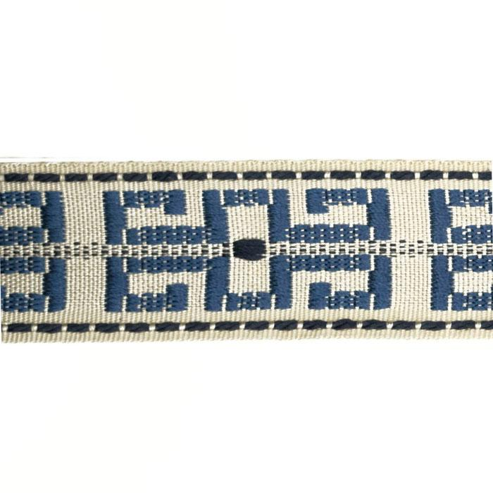 "Decorative Trim 1 1/2"" Greek Key Braid Ivory/Blue"