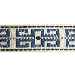 Decorative Trim 1 1/2'' Greek Key Braid Ivory/Blue