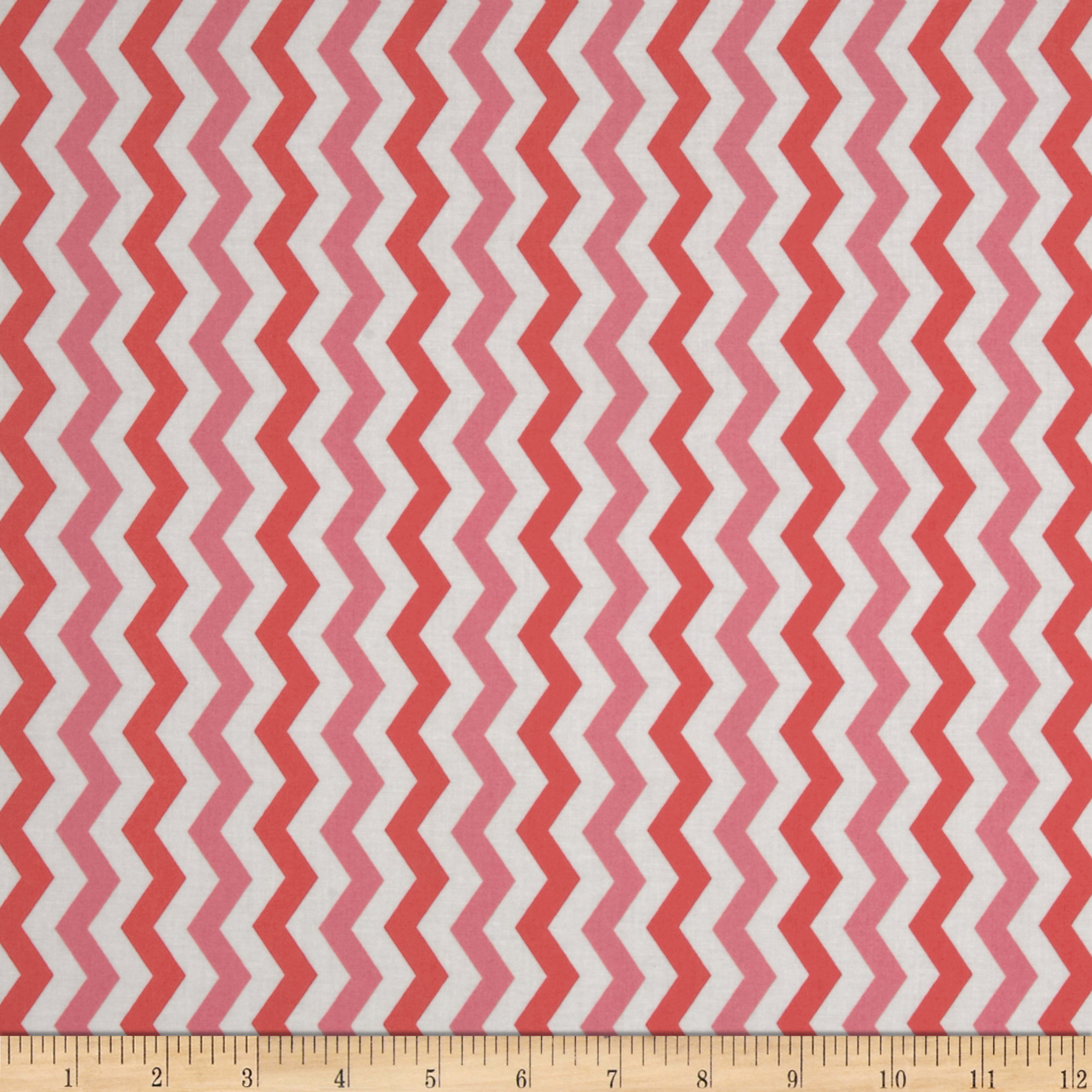 Flamingo Road Chevron Pink Fabric