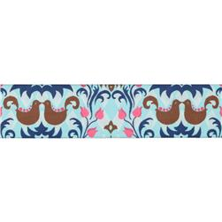 1 1/2'' Ribbon Birdie Damask Light Aqua