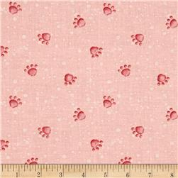 Pampered Pooch Paws Prints Pink