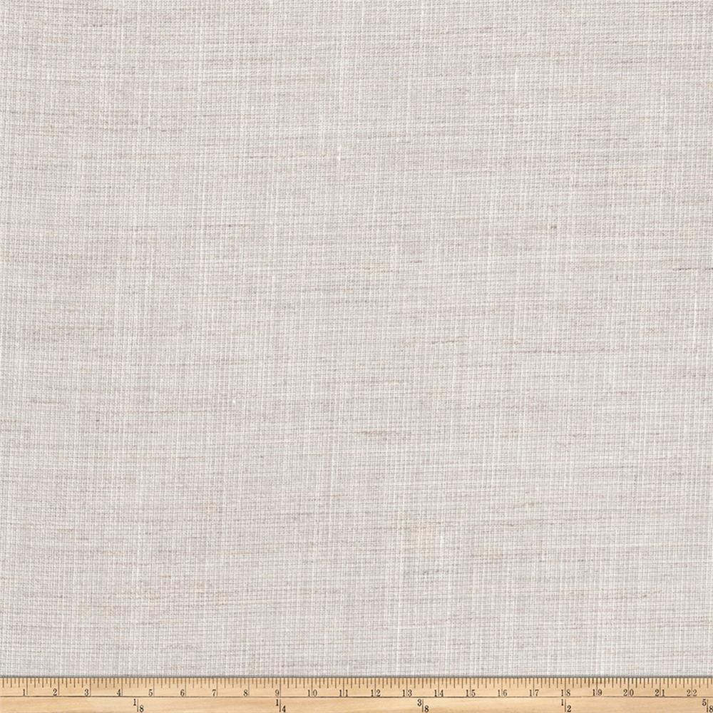 "Fabricut Wilhelmina 125"" Sheer Linen Blend Natural"