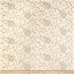 Fabricut Elmley Embroidered Linen Blend Lagoon