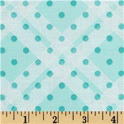 Precious Beginnings Plaid Blue Fabric