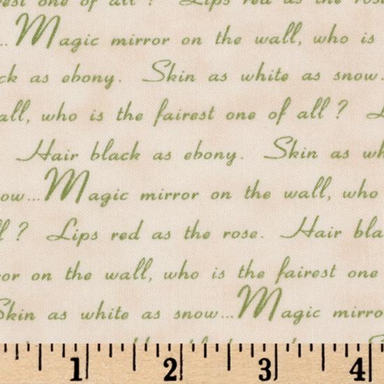 Snow White Discovers The Cottage Snow White Quotes Cream/Green