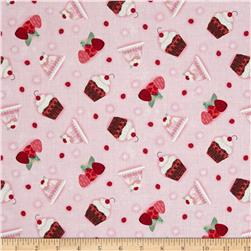 Sugary Sweet Small Treats Pink Fabric