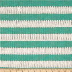 Sweater Knit Stripe Teal