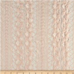 Nylon Lace Geo Stripe Light Pink
