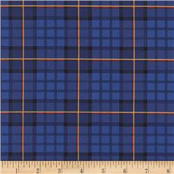 Michael Miller Nutcracker Metallic Nutcracker Plaid Royal